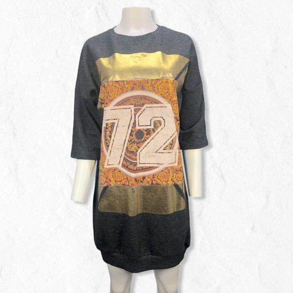 "ASOS Dresses & Skirts - Gray ASOS 3/4 Sleeve Sweater ""72"" Dress Sz 2"